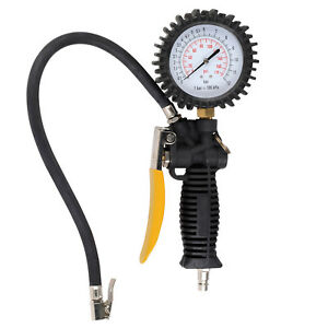 Druckluftpistole-Reifenfueller-Druckluft-12bar-Reifenfuellgeraet-33-cm-Schlauch