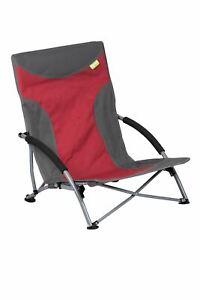 Kampa Sandy Basse Pliable Plage Chaise Rouge Charge Max. 100 Kg-afficher Le Titre D'origine Lissage De La Circulation Et Des Douleurs D'ArrêT