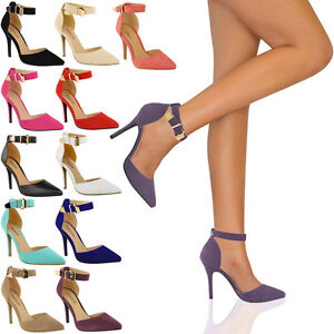 LADIES-WOMENS-HIGH-HEEL-POINT-TOE-STILETTO-SANDALS-ANKLE-STRAP-COURT-SHOES-SIZE