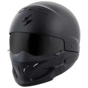 Scorpion Exo Covert Half Shell Helmet Gloss White Free Size Exchanges