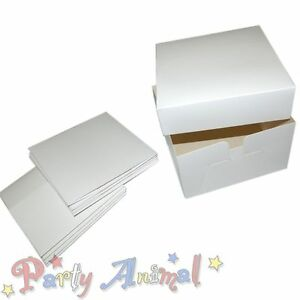 Bulk-5-Pack-White-Cake-Boxes-6-Inch-Deep-Box-amp-Lid-for-Wedding-Birthday-Cakes