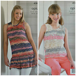 682a5fe3fed531 Image is loading KNITTING-PATTERN-Ladies-Girls-Easy-Knit-Sleeveless-Frill-