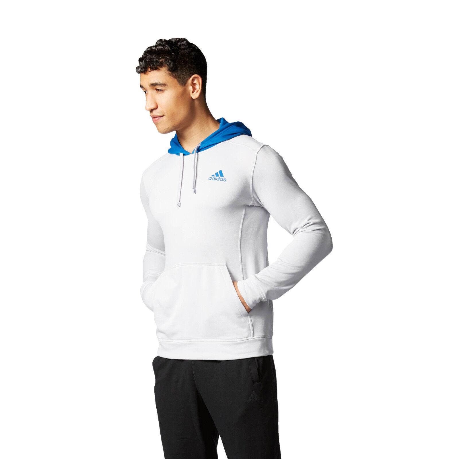 Adidas uomini della climawarm tech della uomini felpa felpa grigio chiaro / blu taglia xl ff87dc