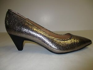Sofft Size 9 M ALTESSA II Anthracite Leather Pumps Heels New Womens Shoes
