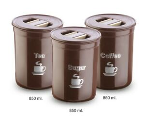 Sugar Canister Set 850ml Plastic
