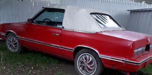 1982 chrysler lebaron 2 door convertible