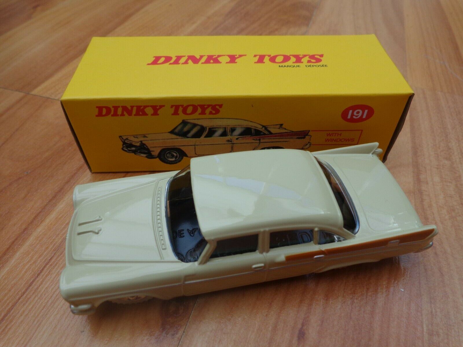 DINKY TOYS 191 DODGE ROYAL SEDAN CAR - NEW BOXED - ATLAS EDITIONS