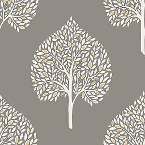 Annabelle-Arbre-Papier-Peint-Gris-Fine-Decor-FD41929-Feuille-Feuillage