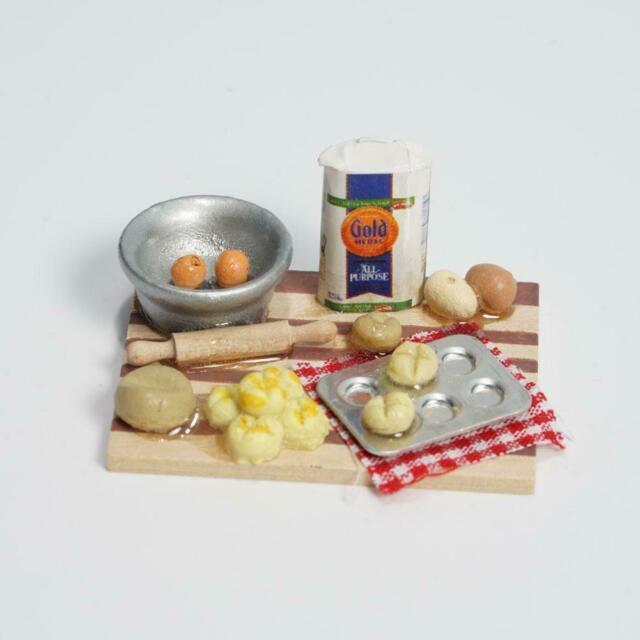 1:12 Miniatur Puppenstube Gebäck Backwerk Puppenhaus Mini Kücheneinrichtung Y0O4