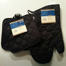 (NEW) 3 Pcs - OVEN MITT & Pot Holders Set - New with Tags - 100% Cotton - 3 pcs