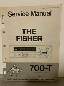 Original-The-Fisher-Modell-700-t-Transistor-Stereo-Receiver-Service-Manual-selten