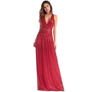 383c01d2bda9 Caricamento dell immagine in corso Elegante-vestito-abito -lungo-donna-evento-sera-strass-
