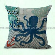US SELLER- patio furniture marine life sea animal octopus cushion cover