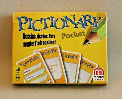 Buono Pictionary Pocket - Version Voyage Poche Cartes - Mattel