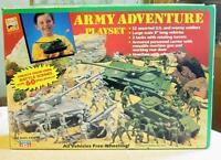 Vintage U.s Army Battle Military Plastic Toy Play Set Tanks Soldiers