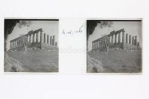 Agrigento Sicilia Italia Placca Da Lente Stereo Positive Ca 1920