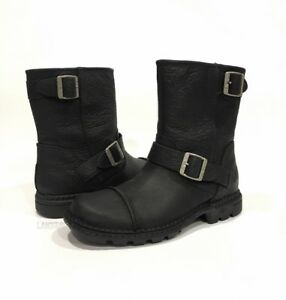 37158b052bf Details about UGG 3040 ROCKVILLE II MEN'S MOTORCYCLE BOOTS WATER RESISTANT  BLACK LEATHER -US 9