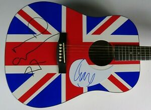 Liam-Gallagher-amp-Noel-Gallagher-OASIS-Signed-Autograph-Guitar