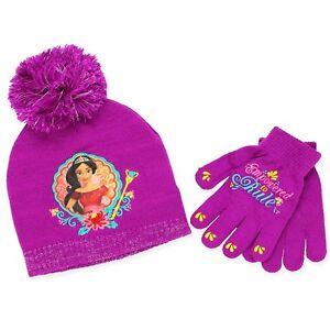 Disney Princess Elena Girls Winter Hat Gloves Beanie SET Mittens Kids Toddler