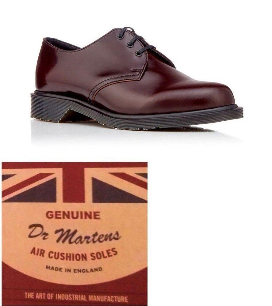 DR. Martens Donna Made in England Merlot Boanil pennello 1461 scarpe. Taglia