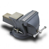 8 Mechanic Bench Vise With Anvil Double Locking Swivel Base Table Top Clamp