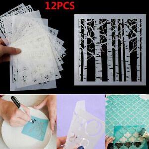12Pcs-Satz-geschichtetes-Wachspapiergemaelde-Sammelalbum-Stempel-Album-Dekoration