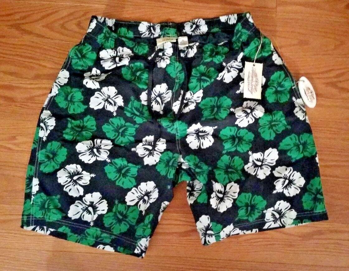 G.H bluee Allen Solly Hawaiian bluee Green White Floral Swimwear Trunks NEW XL