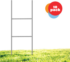 Yard Sign Stakes 24 X 9 H Stakes Galvanized Metal For Corrugated Plastic Sign