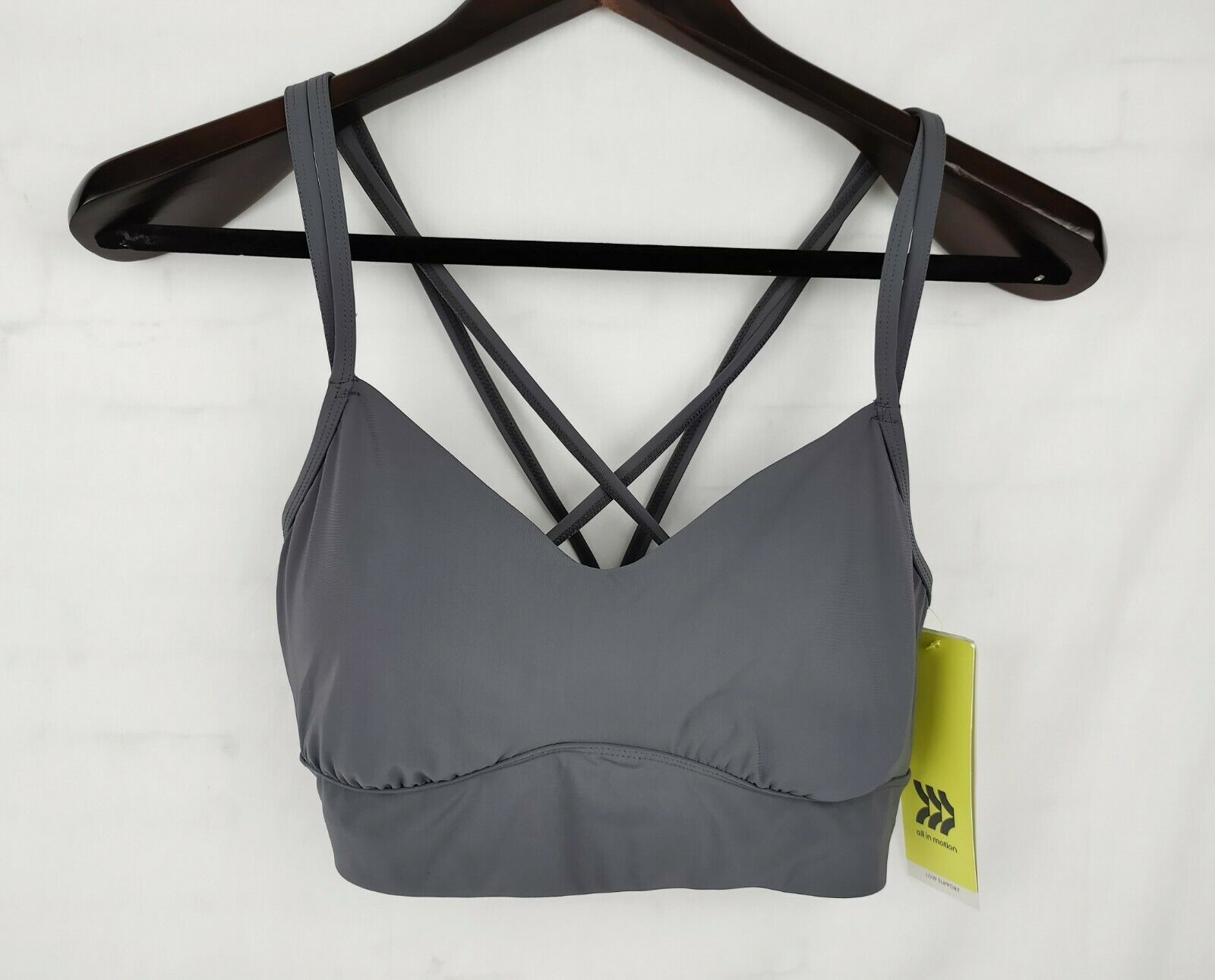 All In Motion Bra Size Medium Low Support Moisture Wicking Pullover Style