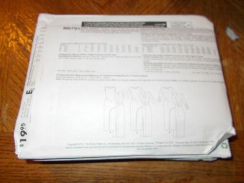 McCalls Pattern M6791 Ms EZ KNITS  ~ Close Fit Pullover Evening Length Dresses
