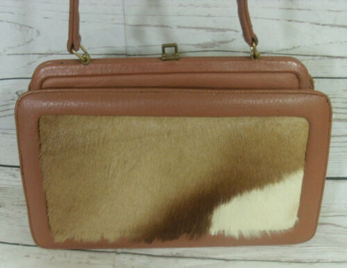Tote Kelly And Pony Skin Tan Vintage Leather Handbag Bag X7CYwOtq