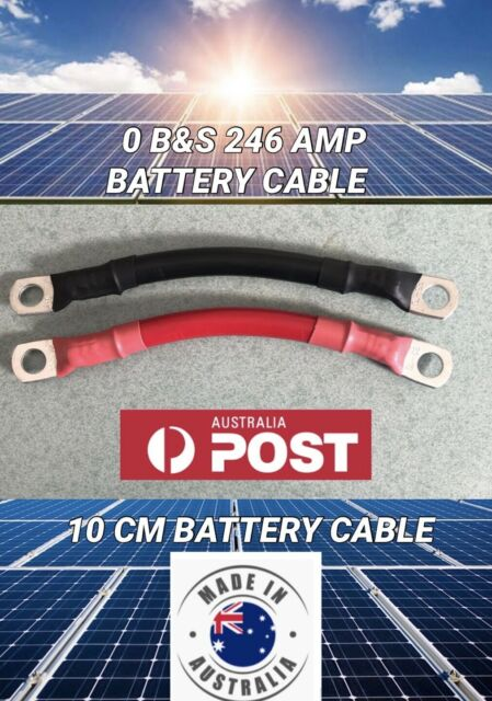 10CM 0 SIZE B&S 246 AMP BATTERY JOINER LINK LEADS DC CABLE WITH 50 x 10MM LUGS