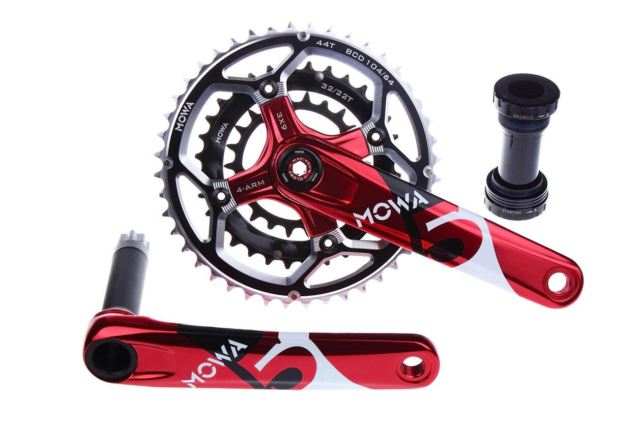 Bicicleta De Montaña MOWA cinco bielas ciclismo bicicleta de montaña 44 32 22t 175 mm Rojo