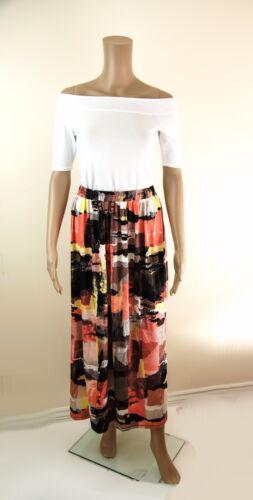 ex M/&S Skirt Marks /& Spencer Maxi Skirt in Abstract Print