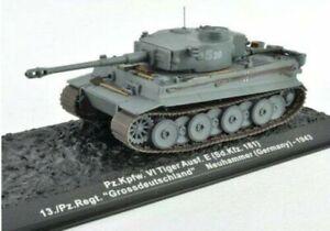 Carro-Armato-Pz-Kpfw-vi-Tiger-Esegui-e-1-72-Diecast-Modello-Pronto-Modello-in-Metallo-Militare