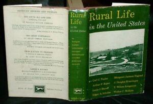 RURAL LIFE IN THE UNITED STATES 1950 HC/DJ Taylor et al