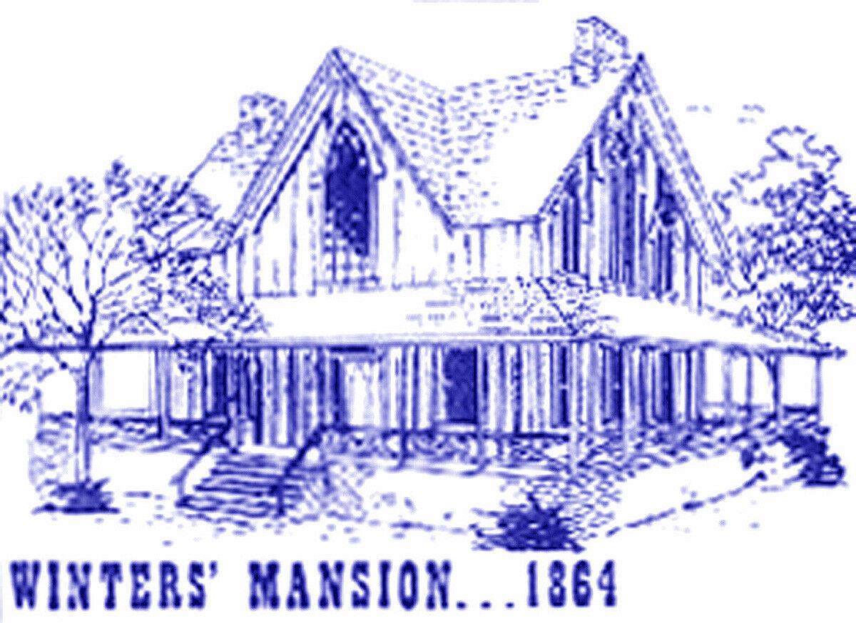 WINTER'S MANSION HO HOn3 Model Railroad Structure Craftsman Wood Kit CM38908