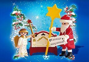 Playmobil-Santa-Claus-Navidad-Angel-y-Papa-Noel-Ref-4889-NUEVO-con-Musica-REAL