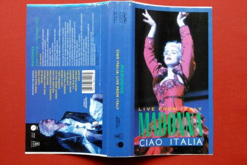 MADONNA CIAO ITALIA RARE ORIGINAL YUGOSLAVIAN EDITION VHS TAPE JUGOTON LABEL