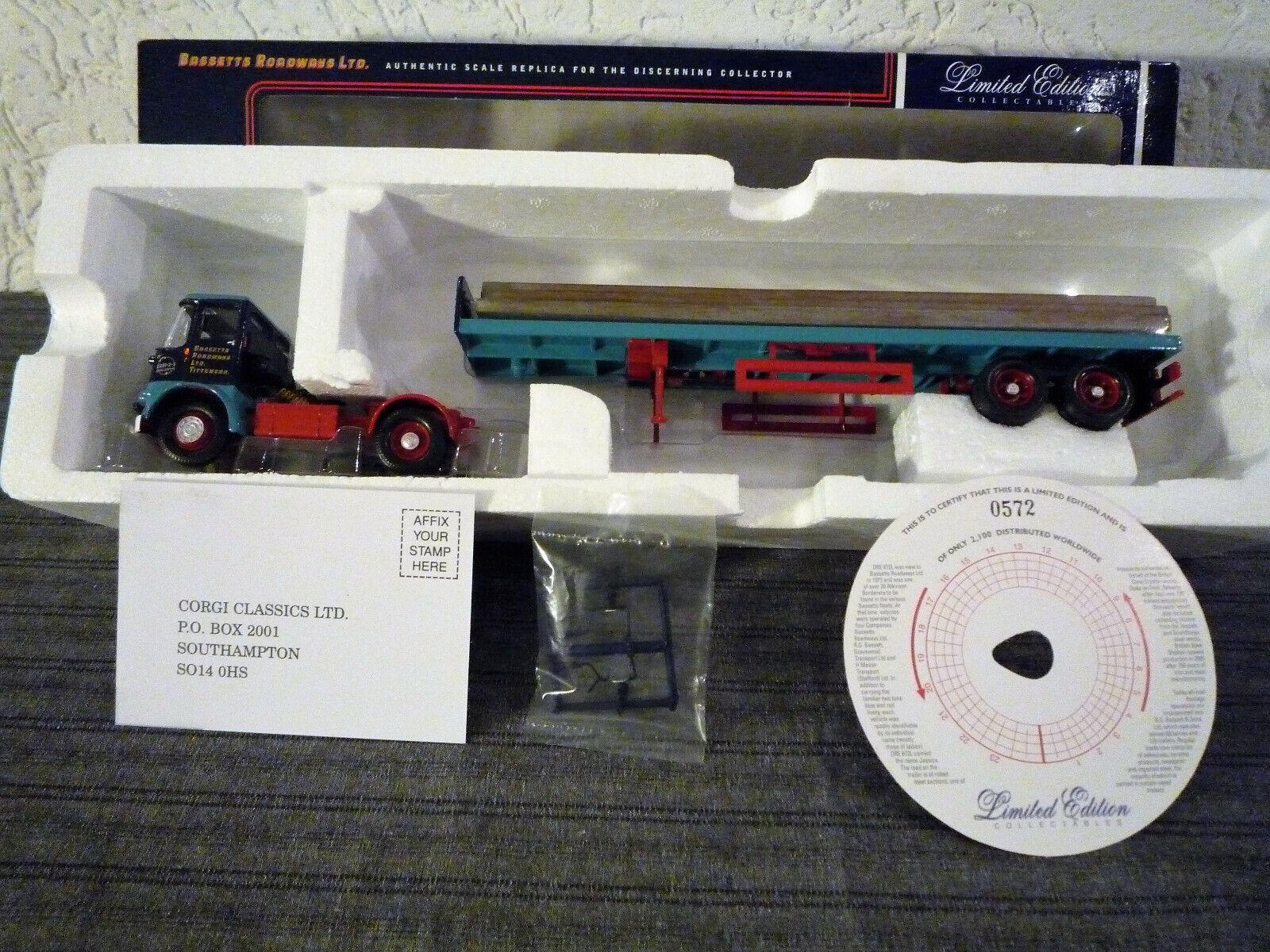 Corgi 12509-1 50- Atkinson Borderer FB Tr.&Steel load- Bassetts Roadw.  572 2100
