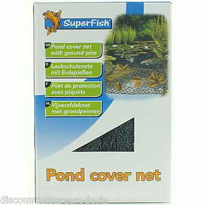Superfish-3m-x-2m-etang-Protection-Housse-Maille-jardin-filet-avec-fixation