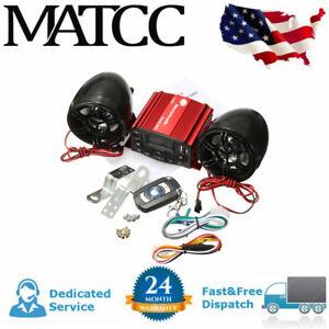12V-Motorcycle-Audio-Remote-Control-Speaker-Sound-System-SD-USB-MP3-FM-Radio-Red
