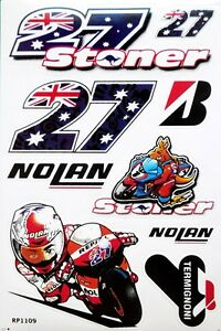 Image Is Loading Casey Stoner Number 27 Decals MotoGP Motorcycle Nolan