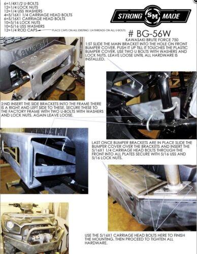 STRONG MADE WINCH SERIES FRONT BUMPER KAWASAKI BRUTE FORCE 750 2012-2020