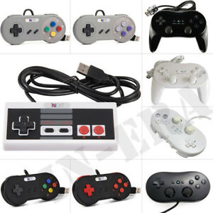 Details about 2x Retro SNES/NES USB Controller for PC/Mac Classic  Controller Pro for Wii Wii U