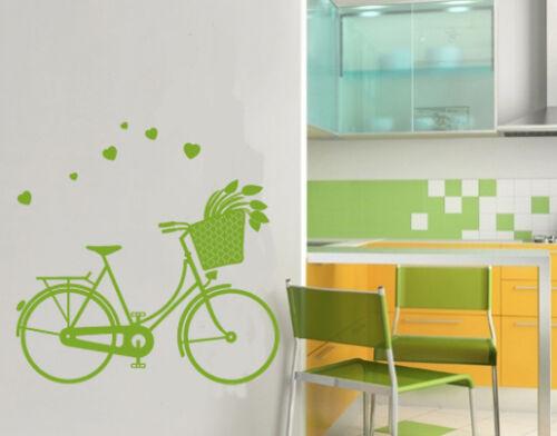 Mural Chambre Enfant Vélo Tulipes cœur murale salle de jeux iwo012