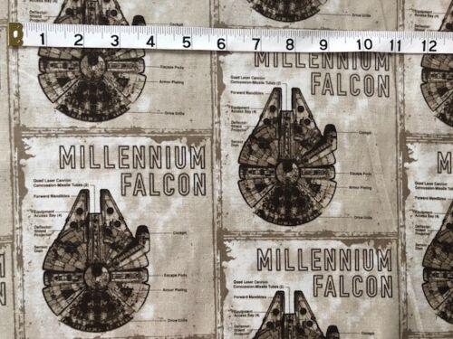 Star Wars Millenium Falcon Last Jedi Cotton Fabric Craft Quilt FQ Metre