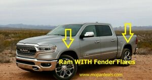 2019 RAM 1500 Front And Rear Molded Splash Guard Mud Flaps W// Fender Flares OEM
