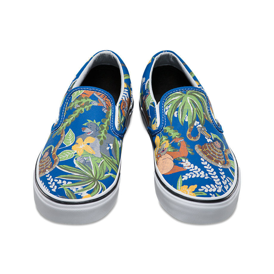Vans x Disney THE JUNGLE BOOK Mens shoes NEW Classic Slip-On blueE Free Shipping