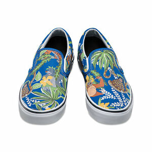 2840165dd78a Vans x Disney THE JUNGLE BOOK Mens Shoes  NEW Classic Slip-On BLUE ...